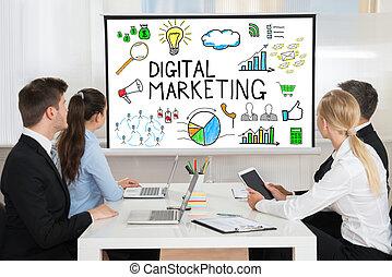 會議, 參加, 影像, businesspeople