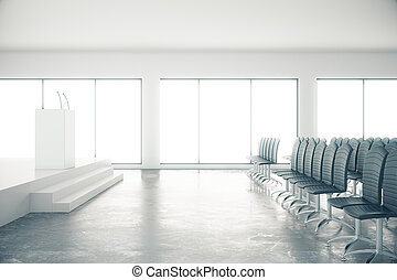 會議, 混凝土, 房間