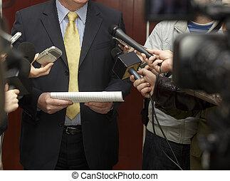 會議, 話筒, 新聞工作, 業務會議