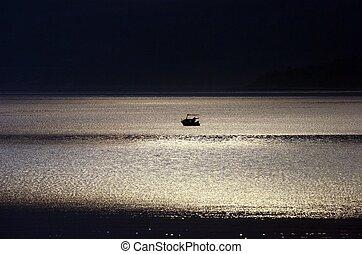 月光, 所作, the, 海