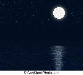 月明かりである, 海洋