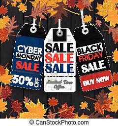 月曜日, 価格, 金曜日, cyber, 秋, 3, 木, 黒, 群葉, ステッカー