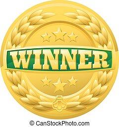 月桂樹の冠, メダル, 勝者, 金