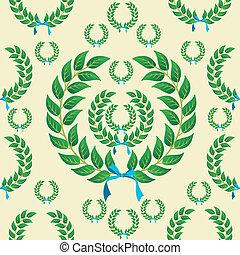月桂樹の冠, seamless, パターン