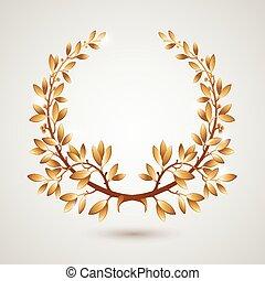 月桂樹, ベクトル, 金