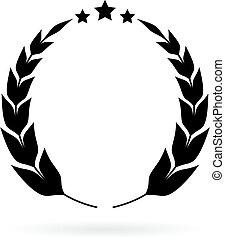 月桂樹, 勝者, 紋章