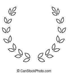 月桂樹 花圈, 符號