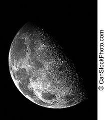 月, 中に, 外の, space.