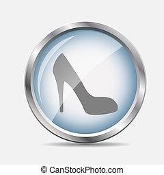 有光泽, 矢量, 鞋子, 描述, 图标