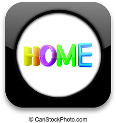 """有光澤, 圖象, 由于, 鮮艷, 正文, """"home"""""""