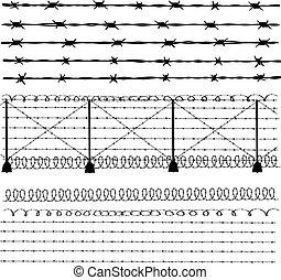 有刺鉄線, -, フェンス