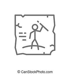 有史以前の美術, 洞穴, 図画, ロックの絵, 線, icon.