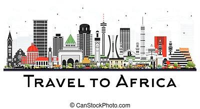 有名, スカイライン, アフリカ, landmarks.