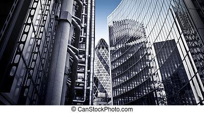 有名, ロンドン, 財政 地区, skysrcapers
