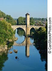 有名, 中世, 橋, 中に, ∥, 古い, フランス語, 町, orthez