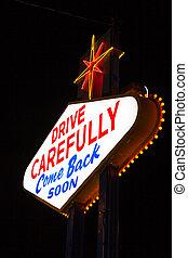 有名, 去ること, ラスベガス, 印, 夜で