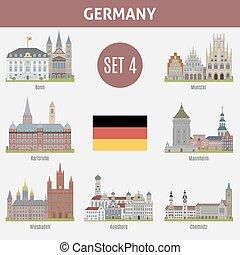 有名, 都市, ドイツ, 場所