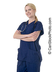 有吸引力, 微笑, 护士