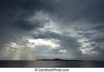 有暴風雨的天空