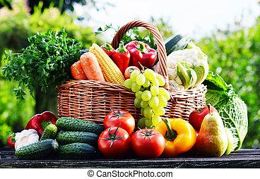 有機体である, 庭, 分類される, 枝編み細工, 野菜, 未加工, バスケット
