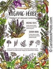 有機体である, 庭, 農場, ハーブ, 調味料, スパイス