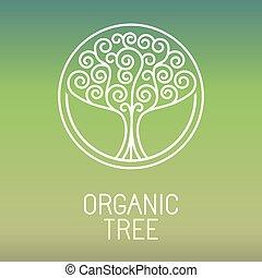 有機体である, -, 抽象的, 木, ベクトル, ロゴ