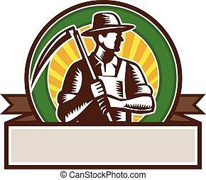 有機体である, 木版, 大鎌, 保有物, 農夫, 円