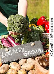 有機体である, 野菜, 提出された, 上に, a, 立ちなさい, 販売 のため