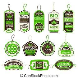 有機体である, bio, 食物, gluten, プロダクト, ラベル, 無料で, eco