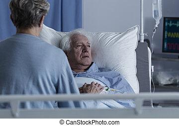 有病, 高階人, 由于, alzheimer