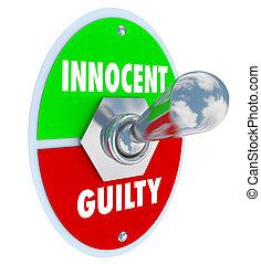 有罪である, トグル, 法的, 裁判, スイッチ, ∥対∥, 評決, 無実, 判断
