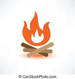 有色人種, たき火
