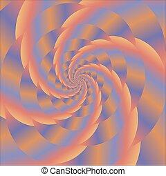 有色人種, カラフルである, sphere., らせん状に動きなさい, フラクタル, design.