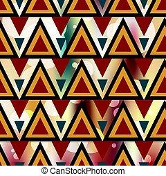 有色人種, パターン, イラスト, ベクトル, 背景, 幾何学的