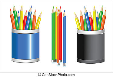 有色人種, ベクトル, 鉛筆