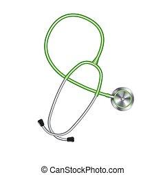 有色人種, 医療のイラスト, 装置, ベクトル, 聴診器, アイコン