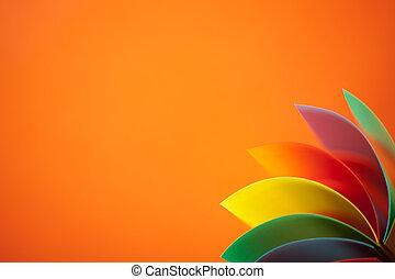 有色人種, 抽象的, ペーパー, 背景, オレンジ, 構造