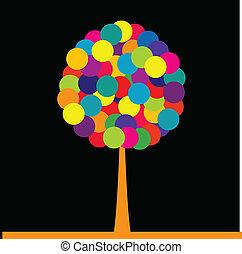 有色人種, 抽象的, 木, 黒い背景, 上に