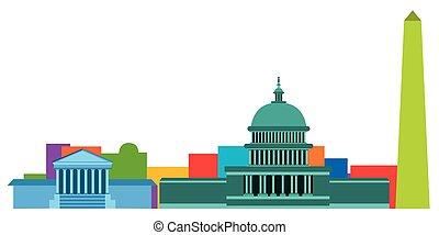 有色人種, 都市の景観, の, ワシントン