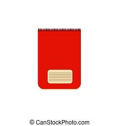 有色人種, template., notebook., 赤, らせん状に動きなさい, ベクトル, 単純である, メモ用紙, 現実的