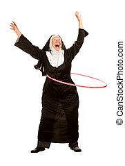 有趣, 修女, 由于, 玩具, 箍