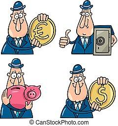 有趣, 卡通漫画, 企业家