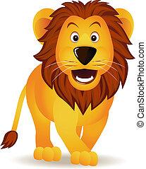 有趣, 狮子, 卡通漫画