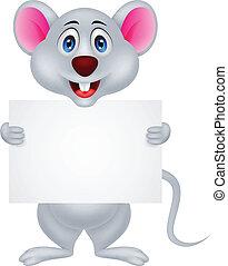 有趣, 老鼠, 卡通, 由于, 空白徵候