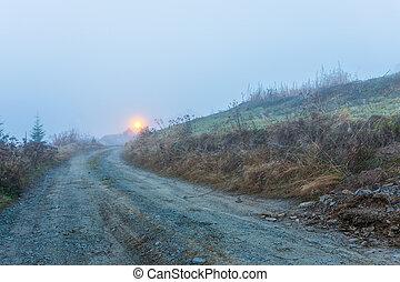 有霧, 早晨, 在, transylvania