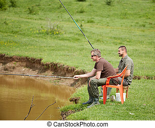 朋友, 湖捕魚