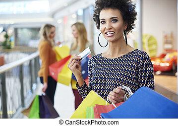 朋友, 購物中心, 購物, 三, 最好