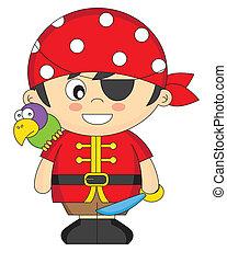服を着せられる, 海賊, 子供