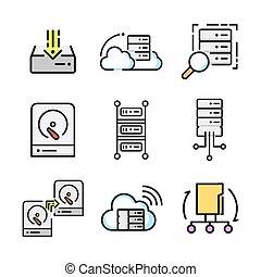 服務器, 圖象, 集合, 顏色