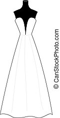 服, イラスト, バックグラウンド。, ベクトル, 結婚式, 白